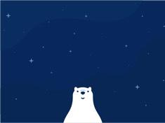星空小熊壁纸 iPad 壁纸