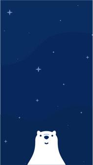 星空小熊壁纸 iPhone 壁纸