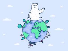 2020国际北极熊日壁纸-浅色 iPhone 壁纸