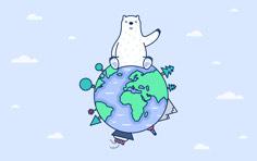 2020国际北极熊日壁纸-浅色 Mac/桌面 壁纸