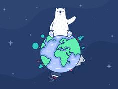 2020国际北极熊日壁纸-深色 iPad 壁纸