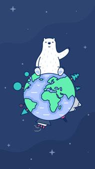 2020国际北极熊日壁纸-深色 iPhone 壁纸