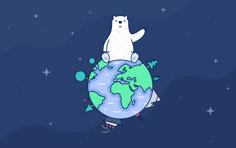 2020国际北极熊日壁纸-深色 Mac/桌面 壁纸