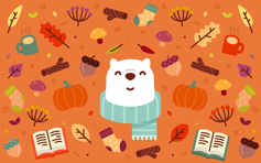 Pumpik Spice Bear - Mac Desktop Wallpaper