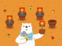 小熊四周年纪念壁纸 - iPad Wallpaper