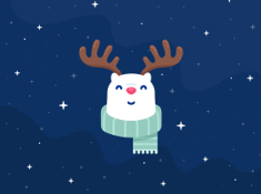 Rudolph The Red Nosed ReinBear - iPad Wallpaper