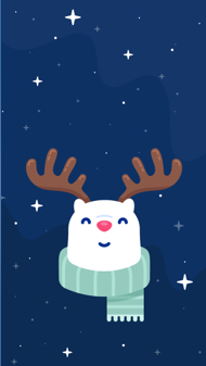 Rudolph The Red Nosed ReinBear - iPhone Wallpaper