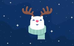 Rudolph The Red Nosed ReinBear - Mac Desktop Wallpaper