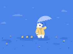 April Showers - iPad Wallpaper