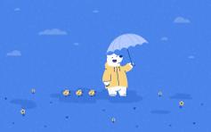 April Showers - Mac Desktop Wallpaper