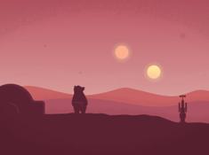 Planet Tedtooine - iPad Wallpaper