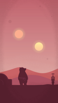 Planet Tedtooine - iPhone Wallpaper