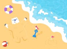 夏日小熊壁纸 - iPad Wallpaper