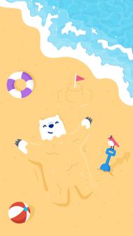 夏日小熊壁纸 - iPhone Wallpaper