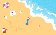 夏日小熊壁纸 - Mac Desktop Wallpaper